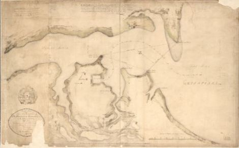 Rough plan of the defences of the harbour of Annapolis in Maryland